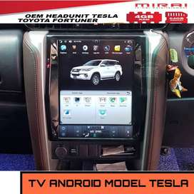 Head Unit All New Fortuner Android Mirai Model Tesla | KIKIM Variasi