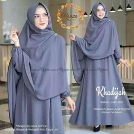 INDOHP - Khadijah Syari Gamis Set Hijab / COD