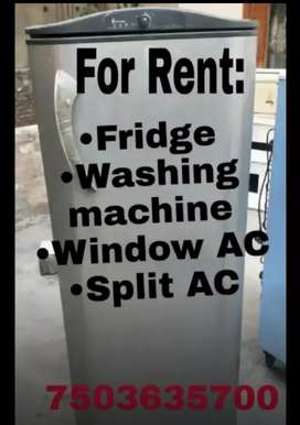 For rent:- fridge, washing machine, AC