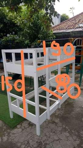 Dijual bunkbed ( tempat tidur tingkat ) kayu