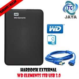 "HDD Hardisk Eksternal External 2.5"" - WD Elements 1TB Hitam"