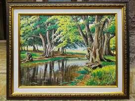 souvenir lukisan palembang 1