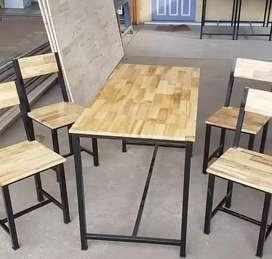 Meja kursi makan meja kursi cafe meja kursi foodcourt meja kursi bakso