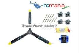 Dynam Power combo 6(BM3715A-KV820+30A ESC+4pcs 9gservos+1173 prop)