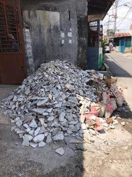 batu timbunan / bahan bongkaran rumah