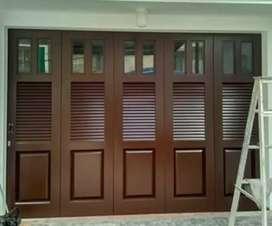 Pintu lipat garasi dengan model2 terbaru bahan galvanis anti karat