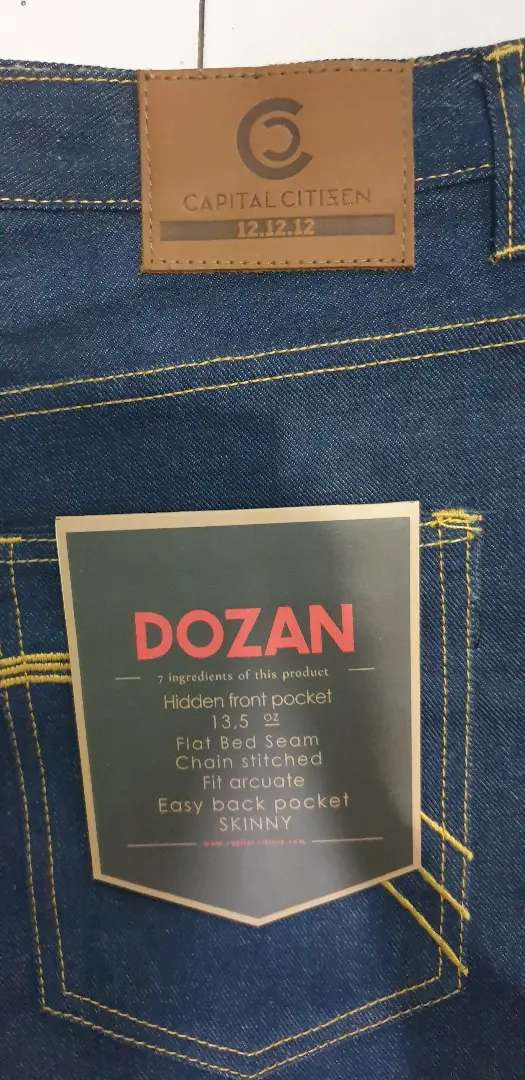 Celana Jeans Pria Capital Citizen Dozan Skinny Fit Original