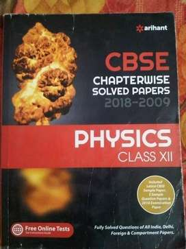 PHYSICS class 12 ARIHANT Solved papers chapterwise