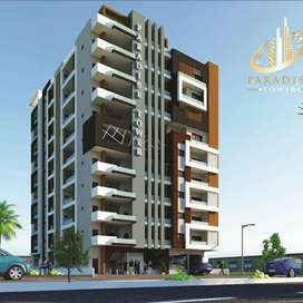 Corner flat for sale in Paradise Tower located on Main University Road