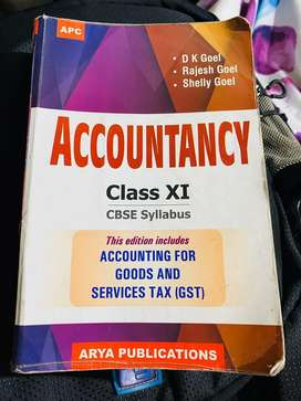 Accountancy book Class 11