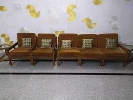 Sofa Set brown colour