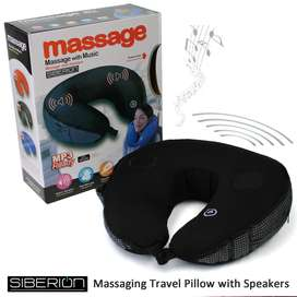 Neck Massage Pillow Microbead Vibrating Massage Travel Mp3 ready