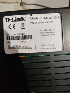 D link router+ adsl cable + connecting cable