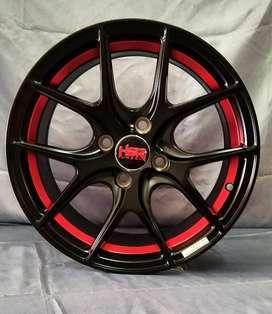 jual velg racing HSR R15x65 pcd 4x100 smb/red