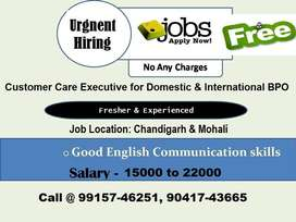 Hiring CCE for International BPO