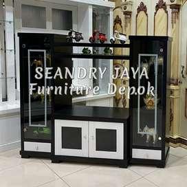 SEANDRY JAYA Furniture Depok/Bufet pajangan rak tv minimalis/lemari