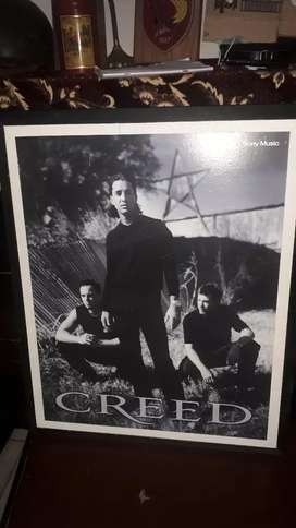 Poster grup music rock  creed