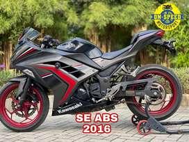 JUAL MOTOR MOGE KAWASAKI NINJA 250 fi 2016 SE ABS ABU LOW KM