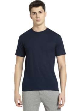 BIO-WASH 100% Cotton Regular fit Plain Round Neck Men's T-Shirt