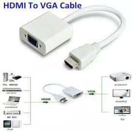 KABEL HDMI TO VGA (TERLARIS) (100% GARANSI & TERMURAH BALI)