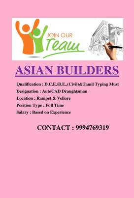 Autocad Draughtsman with Tamil typing