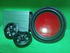 Paket Audio Mobil Bass Mantap