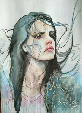 Painting Water Colour Portrait Art