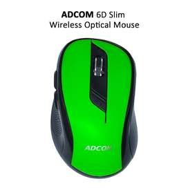 Adcom 6D Slim Wireless Optical Mouse with 6 Buttons, 1600dpi.