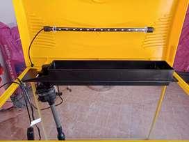 Fish tank of yellow colour