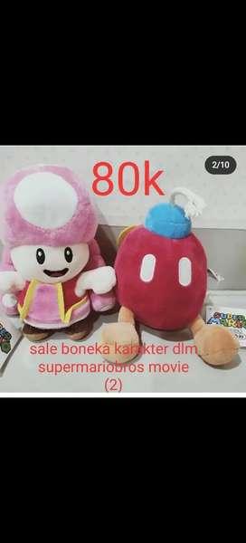 Boneka lucu karakter Mario Bros