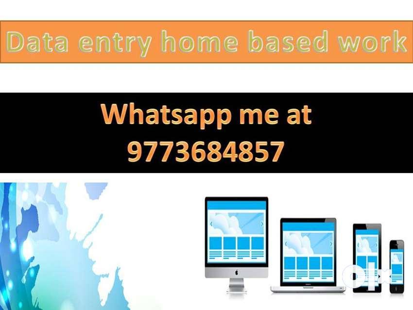 Genuine work home based data entry part time job 0