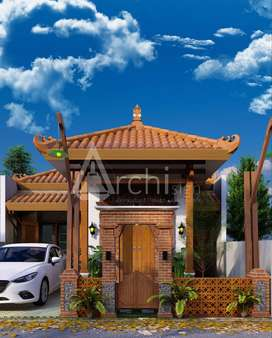 RUMAH Cantik Legalitas SHM, Design Etnik Jawa Modern