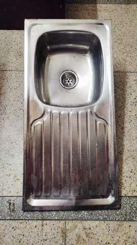 Steel kitchen sink big size