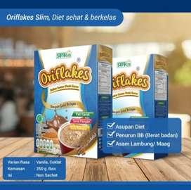 Oriflakes Slim Diet Sehat Sereal Umbi Garut Asam 350gram COKLAT-VANILA