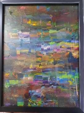 Knife painting,fluid acyrlic art