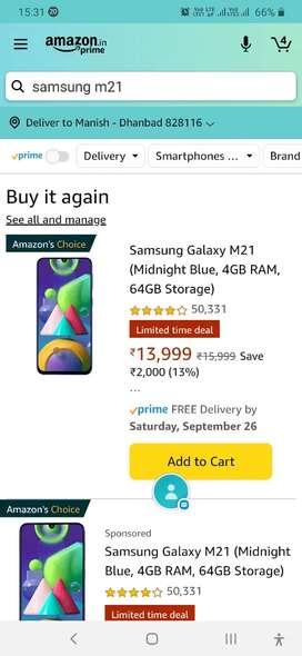 Samsungm21 25daysold