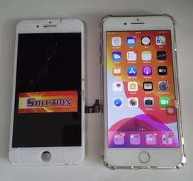 Lcd Touchscreen Iphone 7 Plus White Putih + Pasang