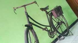 Sepeda ontel plus tas samping