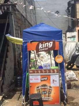 Paket franchise bekas KING COKLAT lokasi surabaya kondisi oke