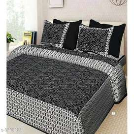 Cotton Chunari Print Double Bedsheets with 2 Pillow Covers