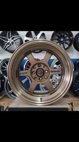 VELG model TE37 buat Swift R16x7/8 pcd 8x100/114.3 offset 20