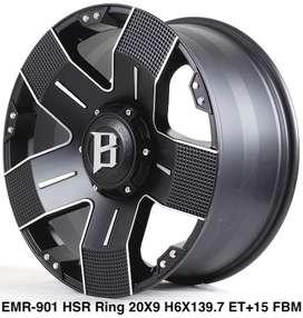 Velg Mobil EMR Ring 20 Prado, Fortuner, Hardtop,Pajero Cicilan 0%