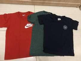 Baju kaos anak cowok import size 5-6thn (nike, zara, ae)