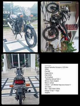 Dijual sepeda motor Yamaha Scorpio z 225.  ss lengkap. PP tewas