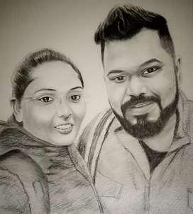 Commission Couple Portrait sketches.