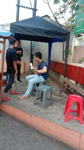 Tenda cafe dagang