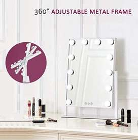 Rubik Lighted Vanity Mirror with 12 x 3W Dimmable LED Bulbs