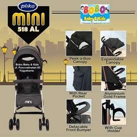 Stroller Pliko Mini BS 518 AL Kereta Dorong Bayi Pliko Stroller Murah