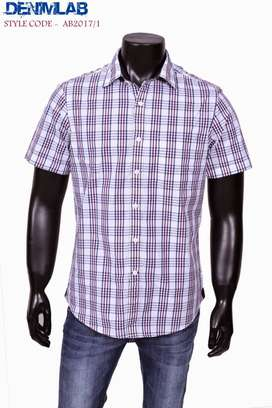 Original Mens Premium Check Casual Shirts Wholesale Pack of 2