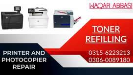 Printer and Photocopier repair and refilling